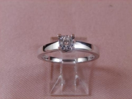 ANILLO BRILLANTE 18KT 1P (SI2 H) 0,155KT G3,2 D6MM