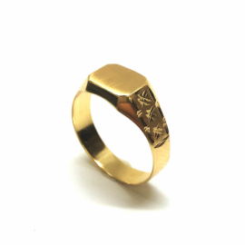 SELLO ORO 18 KT RECTANGULAR 9X7MM PESO G1,7