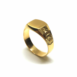 SELLO ORO 18 KT SEMIOVAL 8X8MM PESO G1,7