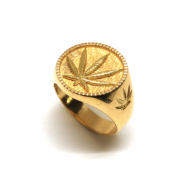 SELLO ORO 18KT HOJA MARIA D18X2,75MM PESO G10,20